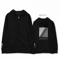 L - Kpop BTS Bangtan Boys cipzáras kapucnis pulóver