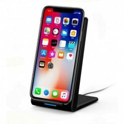 Fehér (10W) - 20 W-os gyors vezeték nélküli töltőállvány Qi töltő dokkoló kábellel Samsung és iPhone