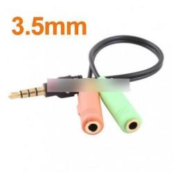 Audio Stereo Plug Spliter 3.5mm Adapter kábel No.4