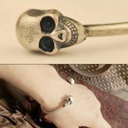1db Divat Színes Ékszer koponya Retro karkötő