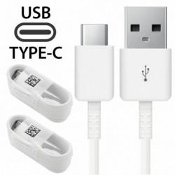 2X fehér Type-C kábel - 1 / 4x C típusú kábel töltőkábel Samsung Galaxy S8 S9   LG 5 G6 Huawei P20 PRO készülékhez