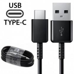 1X fekete Type-C kábel - 1 / 4x C típusú kábel töltőkábel Samsung Galaxy S8 S9   LG 5 G6 Huawei P20 PRO készülékhez