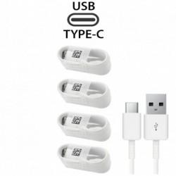 4X fehér Type-C kábel - 1 / 4x C típusú kábel töltőkábel Samsung Galaxy S8 S9   LG 5 G6 Huawei P20 PRO készülékhez