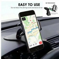 HUAWEI P8 / P8 Lite P9 / P9 Li ... - 360 ° -os HUD autó műszerfal csúszásgátlós telefon GPS tartó tartó tartó klip