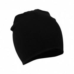 Fekete - Baby Mézze Beanie Junge Médchen Kleinkind Csecsemő Baumwolle weichen Unisex Hut