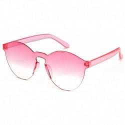 Progresszív rajongó - Candy átlátszó női napszemüveg szemüveg lencse műanyag színes férfi kerek darab