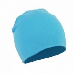 Világoskék - Baby Cap Beanie Boys Girls tipegő csecsemő gyermekek pamut puha aranyos unisex kalap