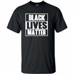 L - BLACK LIVES MATTER póló ANTI RACISM Mozgalom Riot Protest Justice Férfi hölgyek