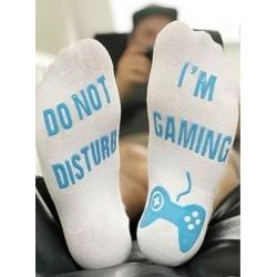 Kék alkalmi zokni - Unisex újdonságú zokni nem zavarja, vicces levélpel nyomtatott zokni ajándékkal játszom