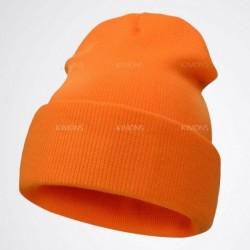 narancs - Férfi női kötött sima sapka sísapka szilárd alkalmi téli sapka hip-hop sapka