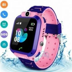 Rózsaszín (vízálló) - Vízálló gyerekek intelligens órája elveszett, biztonságos GPS Tracker SOS hívás Android iOS