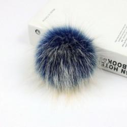 12 cm-es fehér   nyomógomb - Barkácsolás Női Faux Mosómedve Szőrme Pom Poms Labda a Beanie Hat kiegészítők