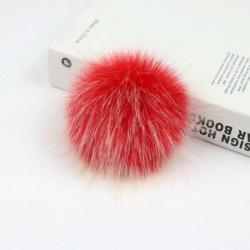 12cm természetes   nyomógomb - Barkácsolás Női Faux Mosómedve Szőrme Pom Poms Labda a Beanie Hat kiegészítők
