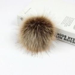 10 cm barna   rugalmas kötél - Barkácsolás Női Faux Mosómedve Szőrme Pom Poms Labda a Beanie Hat kiegészítők