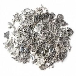 Nincs szín - Sok 100db ömlesztett tibeti ezüst keverék varázs medál ékszer készítés barkács nagykereskedelem
