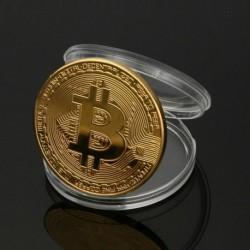 Bitcoin-Gold - BITCOIN !! Aranyozott fizikai Bitcoin védő akril tokban GYORS SZÁLLÍTÁS!