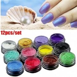 Nincs szín - 12db DIY ásványi csillámpor szappanfesték csillogó szappan színező gyöngypor forró