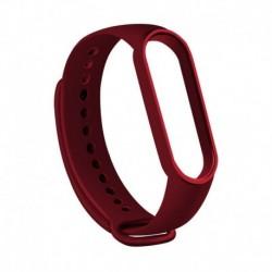 Bor vörös - Xiaomi Mi Band 5 szilikon puha csuklópánt karkötő csere karszalaghoz UK