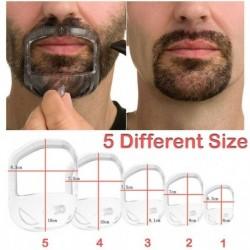 Nincs szín - 5db stílus útmutató férfi sablon szakáll eszköz tervezés kecskeszakáll bajusz alakú borotválkozás
