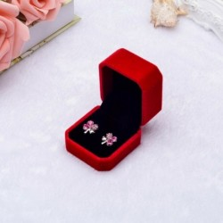 Görögdinnye piros - Gyémánt gyűrűs doboz fehér színes bársony ékszerek ajándék esküvői ajánlat eljegyzés