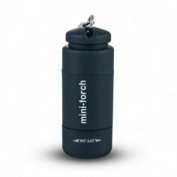 fekete - LED fáklya lámpa zseb USB újratölthető mini kulcstartó kulcstartó kemping zseblámpa