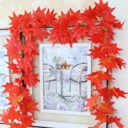 Nincs szín - 2,3 millió elegáns vörös őszi levél koszorú juharlevél szőlő hamis lombozat lakberendezés