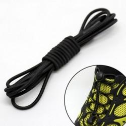 Fekete - Rugalmas csipkék zár cipőfűzők Futó triatlon sportcipő edző Nincs nyakkendő fűző