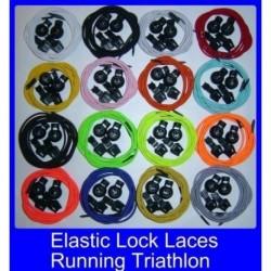 Fluoreszkáló sárga - Rugalmas csipkék zár cipőfűzők Futó triatlon sportcipő edző Nincs nyakkendő fűző