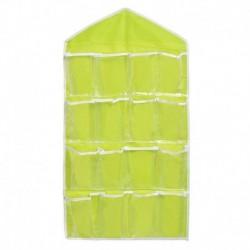 Zöld - 16 zseb elegáns tiszta ajtón akasztótáska cipőtartó akasztó tároló szervező