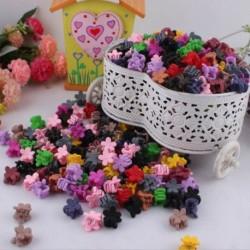 Nincs szín - 30db gyerekek kislányok cukorkás színű hajtűk mini karom hajcsipesz bilincs virág szett