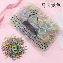 Világos, színes - 100 db női lány hajszalag nyakkendő kötélgyűrű rugalmas hajpánt lófarok tartó amerikai