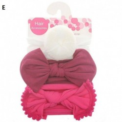 E - 3db baba gyerek íj csomó rugalmas fejpánt turbán kisgyermek lányok hajszalag fejfedő