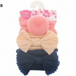 B - 3db baba gyerek íj csomó rugalmas fejpánt turbán kisgyermek lányok hajszalag fejfedő
