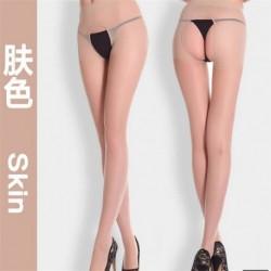 Bőr - Női divat szexi nyitott lágyék lágyék nélküli harisnyanadrág harisnya