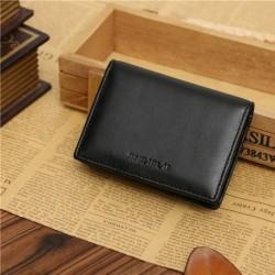 Nincs szín - Férfi bőr RFID Safe ID hitelkártyatartó pénztárca vékony zsebtáska pénztárca Egyesült Királyság