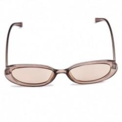 Q-Tea szín - Női lapos objektíves tükrös keretű szemüveg fém túlméretes macskaszem UV400 napszemüveg