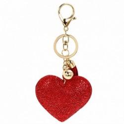 Piros - Szív kristály strassz kézitáska báj medál kulcstartó táska kulcstartó kulcstartó