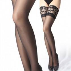 Fekete * 1 - Divat női szexi csipke felső Stay Up comb magas harisnya harisnyanadrág klasszikus meleg