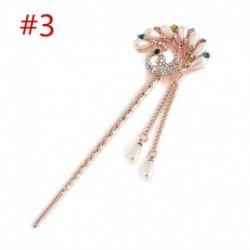 * 3 Páva - Női fém strasszos hajpálcikás pálcika hajtűcsap Chignon Jewerly