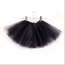 Fekete - 3 rétegű kisgyermek gyerek lányok tutu szoknya öltöztetős jelmezes party 2-9 éves ajándék