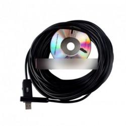 15M Fekete USB endoszkóp Ellenőrzési Kamera
