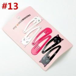 A-13 * 6Pcs / készlet - BB Snap Hair Clip hajtű Barrette fejfedő kiegészítő kislányos gyermekek számára