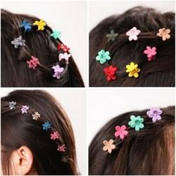 Nincs szín - 30PCS Kids Baby Girls Candy Color hajtűk mini karom hajcsipesz bilincs virág JP