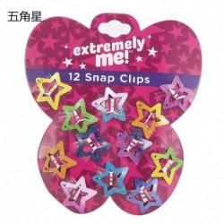 Csillag-12db - 12PCS / Set Kids Barrettes Girls &*39 BB Clip Candy Color Hair Clips Accessories ajándék