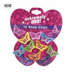 Pillangó-12Db - 12PCS / Set Kids Barrettes Girls &*39 BB Clip Candy Color Hair Clips Accessories ajándék
