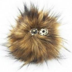 Természetes - 11 cm-es nagyméretű mosómedve szőrme Pom Pom labda nyomógombbal a kötött sapka barkácsolásához