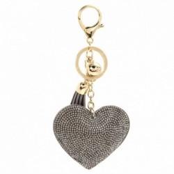 szürke - Szív kristály strassz medál kulcstartó táska kézitáska kulcstartó kulcstartó