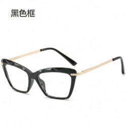 Fekete - Cat Eye szemüvegkeret átlátszó lencsés női optikai myopia szemüvegkeret