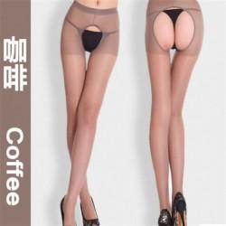 Kávé - Divat női szexi nyitott lágyék lágyék nélküli vékony harisnyanadrág harisnya