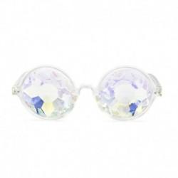 Átlátszó - Rave Kaleidoszkóp kerek szivárvány szemüveg diffrakciós kristálylencse napszemüveg